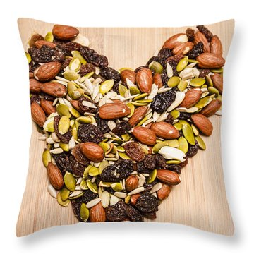 Heart Healthy Snacks Throw Pillow