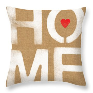 Heart In The Home- Art By Linda Woods Throw Pillow