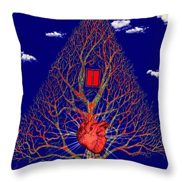 Heart Is The Abode Of The Spirit Throw Pillow
