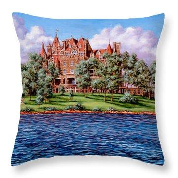 Heart Island Throw Pillow