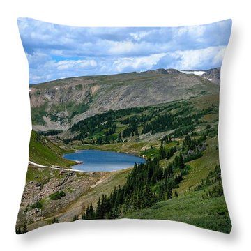 Heart Lake In The Indian Peaks Wilderness Throw Pillow