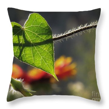Heart Leaf 1 Throw Pillow