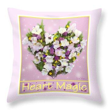 Heart Magic Throw Pillow by Lise Winne