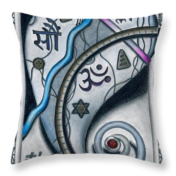 Heart Movement Towards The Divine Throw Pillow