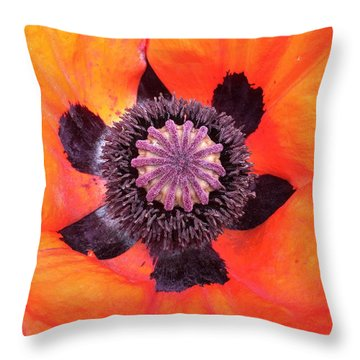 Heart Of A Poppy Throw Pillow