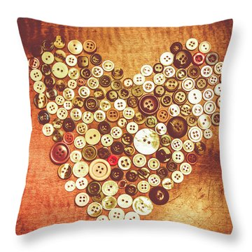 Heart Of A Tailor Throw Pillow