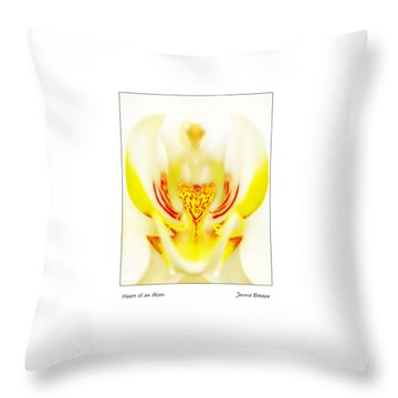 Throw Pillow featuring the photograph Heart Of An Alien by Jennie Breeze