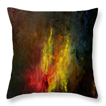 Heart Of Art Throw Pillow by Rushan Ruzaick
