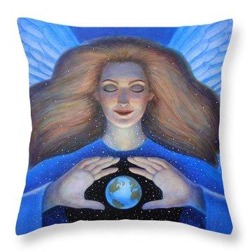 Heart Of Creation Throw Pillow