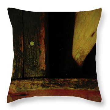 Heart Of Darkness And Light Throw Pillow by Rebecca Sherman