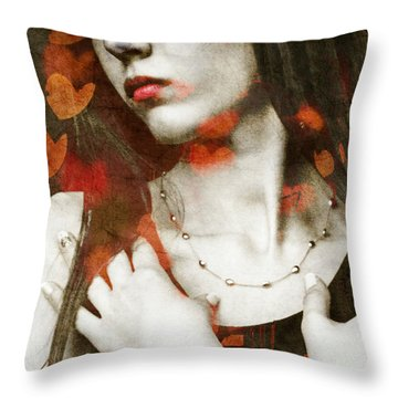 Throw Pillow featuring the digital art Heart Of Gold by Paul Lovering