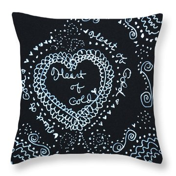 Heart Of Gold Throw Pillow