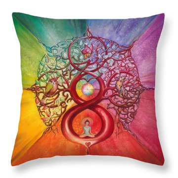Heart Of Infinity Throw Pillow