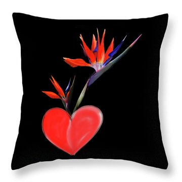 Heart  Of Paradise Throw Pillow