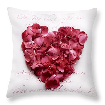 Heart Of Roses Throw Pillow by Linde Townsend