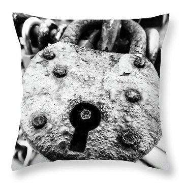 Heart Of Steel Throw Pillow
