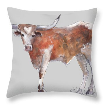 Heart Of Texas Longhorn Throw Pillow