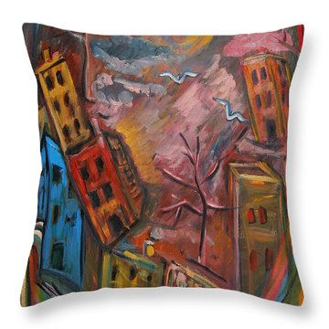 Heart Of The City Throw Pillow