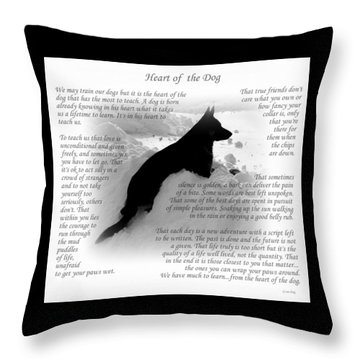 Heart Of The Dog Version Two Throw Pillow
