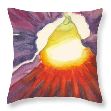 Throw Pillow featuring the painting Heart Of The Flower by Inese Poga
