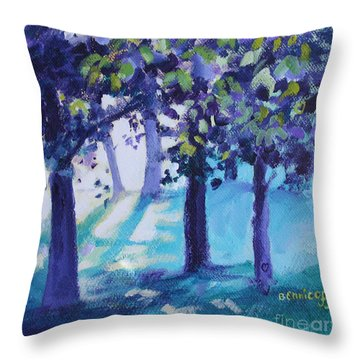 Heart Of The Forest Throw Pillow by Jan Bennicoff