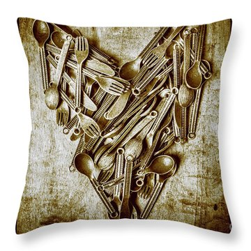 Heart Of The Kitchen Throw Pillow