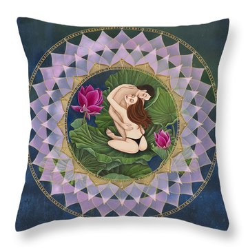 Heart Of The Lotus Throw Pillow by Nadean O'Brien