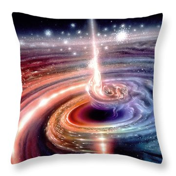 Heart Of The Quasar Throw Pillow by Don Dixon