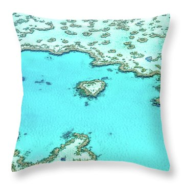 Heart Of The Reef Throw Pillow by Az Jackson