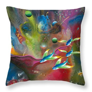 Heart Of The Reef Throw Pillow by Lee Pantas
