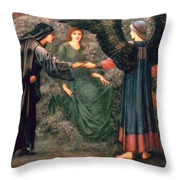 Heart Of The Rose Throw Pillow by Sir Edward Burne-Jones