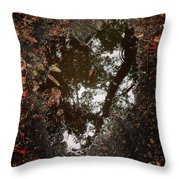 Throw Pillow featuring the photograph Heart Of The Wood by Rasma Bertz