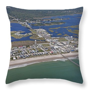 Heart Of Topsail Throw Pillow