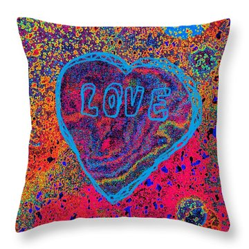 Heart On The Stage Throw Pillow
