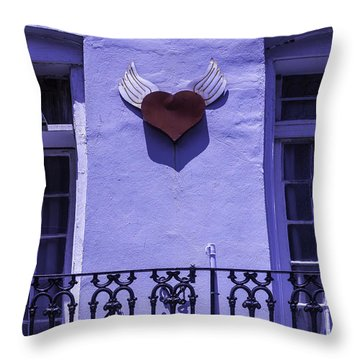 Heart On Wall Throw Pillow by Garry Gay