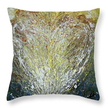 Throw Pillow featuring the painting Heart One by John Dyess