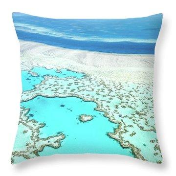 Heart Reef Throw Pillow