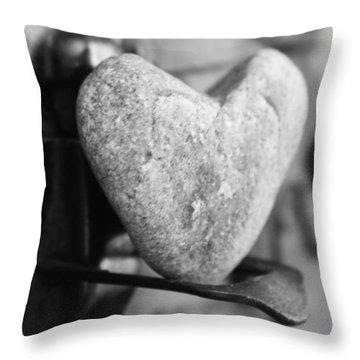 Our Love Is Like A Rock Solid Throw Pillow