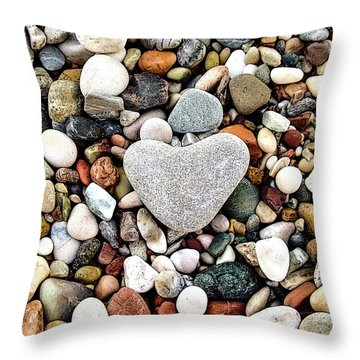 Heart-shaped Stone Throw Pillow