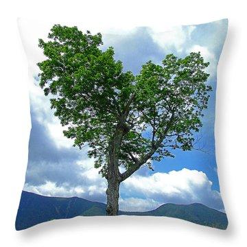 Heart Shaped Tree Throw Pillow