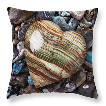 Heart Stone Throw Pillow