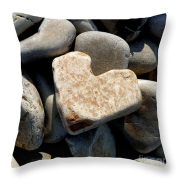 Heart Stone Throw Pillow by Lainie Wrightson