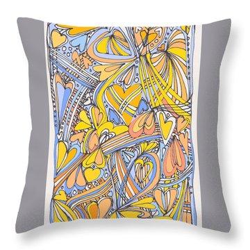 Heart Strings Throw Pillow by Linda Kay Thomas
