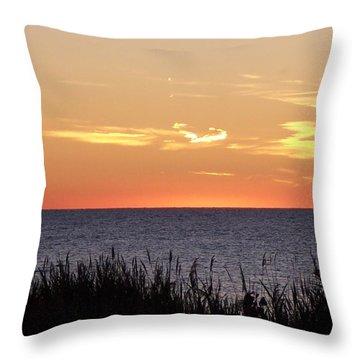 Heart Sunset Throw Pillow