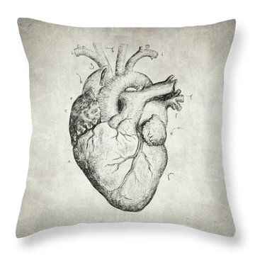 Throw Pillow featuring the drawing Heart by Taylan Apukovska
