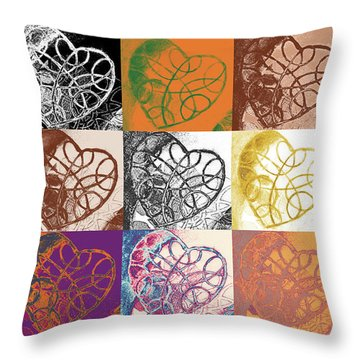 Heart To Heart Rendition 5x3 Equals 15 Throw Pillow
