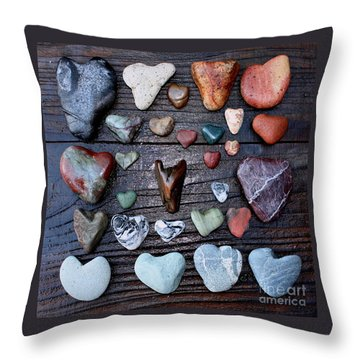 Heart Treasures  Throw Pillow