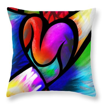 Heart Vectors Throw Pillow by AC Williams