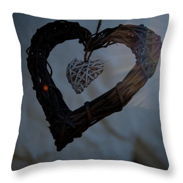 Heart With A Heart II Throw Pillow