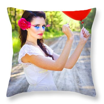 Throw Pillow featuring the photograph Heartache And Heartbreak by Jorgo Photography - Wall Art Gallery